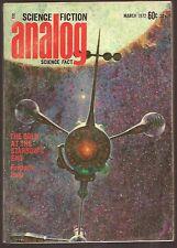 ANALOG March 1972 Frederik Pohl, Larry Niven, James Schmitz. Ben Bova