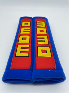 MOMO Seat Belt Harness Pads Cover Blue / Red