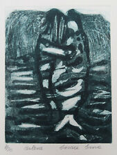 Limited edition original print Etching Balene 8/20 Irma Irsara 1990