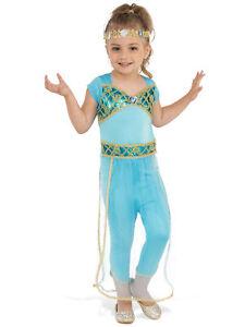 Arabian Princess Jasmine Genie Arab Harem Aladdin Book Week Girls Costume