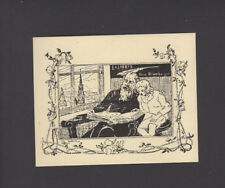 """EXLIBRIS, 001b - Alexander Goltz  """"im Buch lesende"""" / in the book reading , 1899"""