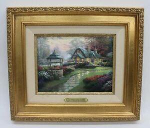 THOMAS KINKADE Make A Wish Cottage I/P Limited Edition Framed Print 12/390