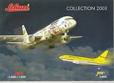 SCHUCO STAR JETS GEMINI JETS COLLECTION, 2003 CATALOGUE
