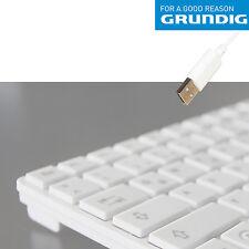 GRUNDIG EXTRA flache Tastatur Slim Design Weiß QWERTZ USB Deutsch Computer PC
