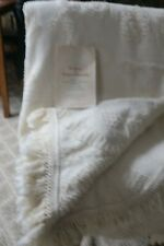 "Bates George Washington Queen Bedspread W Certificate Ivory cotton 92"" X 110"""