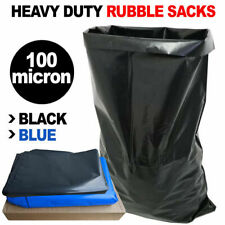 More details for extra heavy duty strong rubble sacks builders large black / blue rubbish bags