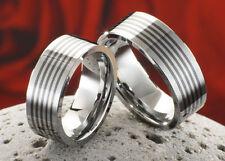 2 Eheringe Verlobungsringe Partnerringe aus Wolfram Tungsten Lasergravur  W706