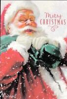 Christmas Greeting Card, Merry Christmas, Santa carrying his sack