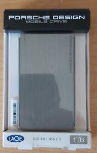 Disque dur externe LACIE PORSCHE DESIGN Mobile 1TB Argent USB3.0/2.0 TBE BOITE