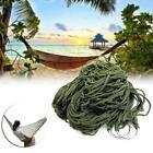 Portable Garden Hammock Mesh Net Hang Rope Travel Camping Outdoor Swing Bed #M