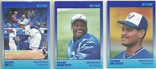 1989 Star Knoxville Blue Jays 25-card Minor League Team Set  Mark Whiten  +