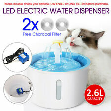 2.6L LED Automatic Electric Pet Water Fountain Dog Cat Drinking Dispenser Filter