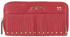 Joe's Jeans Red Bronco Zip Around Wallet
