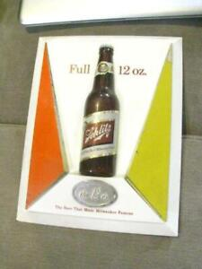 "Full 12 Oz Schlitz Beer Vintage Sign Milwaukee Famous 11 1/4"" x 14 1/2"" Sign"
