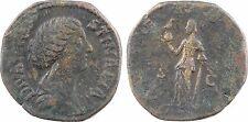 Divine Faustine la Jeune, sesterce, à partir de 176 Rome, Eternité, phoenix -44