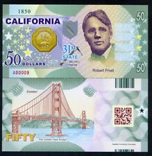 USA States, California, $50, Polymer, ND (2017), Robert Frost