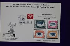 Anaheim 1973 stamp expo inverted reprint Collectors Society Souvenir card page
