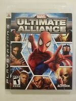 Marvel Ultimate Alliance NO MANUAL TESTED PlayStation 3 PS3 SPIDERMAN FREE S/H