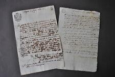 Manoscritto Scrittura Privata Collegara Modena Prestito Bolli Estensi Regno 1800