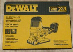 DeWALT DCS335B 20-Volt 1-Inch Brushless Barrel Grip Jig Saw, Bare Tool - NEW !!!