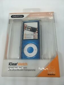 Griffin Iclear Sketch Clear Blue Hard-Shell Case 4th-generation Apple iPod Nano