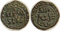 """ITALIE  MESSINE  GUILLAUME II Follaro """"stretto"""" ou demi-follaro 1166-1189"""
