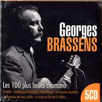 GEORGES BRASSENS - LES 100 PLUS BELLES CHANSONS - BEST OF 5 CD NEUF SOUS CELLO