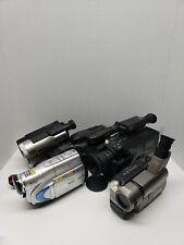 Hitachi JVC Sony Handycam CCD-TRV36 Hi-8 Analog Camcorder Lot of 5
