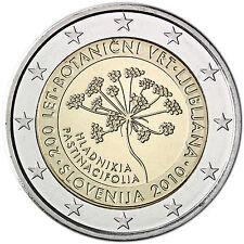"Slovenia 2 euro coin 2010 ""Botanical Garden in Ljubljana"" UNC"