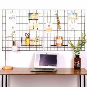 2 Photo Wall Grid Panel Metal Wire Display Decor Nordic Shelving Mesh Memo Board