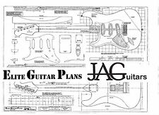 Dibujo/Luthiers plan de proyecto para un Zurdo Fender Std Stratocaster P063