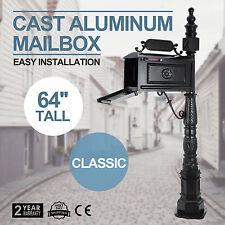 Classic Cast Aluminum Mailboxs Mail Box Postal Box Vertical Pedestal Heavy Duty