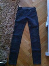 2nd Day Jeans Slim Röhre Stretch Skinny grau silber Gr. 27 / L 33