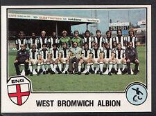 Panini Sport Superstars Euro Football 1982-Sticker No 217 - West Bromwich Albion