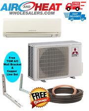 Mitsubishi Mini Split Heat Pump Inverter 12K BTU 18 SEER FREE WALL BRCKT LINESET