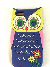 Natural Life Owl iPhone 5 Smart Phone Cover Case Skin Navy Blue