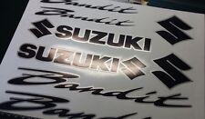 SUZUKI BANDIT 2 COLOUR DECALS/ STICKERS BLACK & SILVER restoration, respray etc