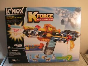 K'nex KForce Build and Blast FLASH FIRE MOTORIZED BLASTER!  NEW in box!  288 pcs