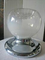 Lampadario lampada sospensione Mazzega vetro Murano acciaio 1970 space age