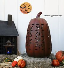 POTTERY BARN TERRACOTTA PIERCED PUMPKIN (TALL) -NIB- CARVE OUT SOME FALL CHIC!