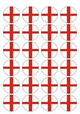 250 X PRECUT ENGLAND FLAG BIRTHDAY EDIBLE WAFER PAPER CUPCAKE CAKE TOPPERS 1069