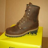 "Carolina Waterproof Insulated Men""s 8"" Soft Toe Logger Boots CA4821  Size 11.5"