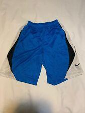 """Nike Boys Blue 10"""" Avalanche Basketball Shorts Large 540869"""