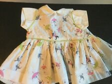 Doll Terri Lee Clothing Pet Dress with Monkeys and Umbrellas tagged 1950's