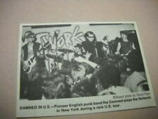 The Damned on stage at the Network in New York 1983 music biz promo pic w/ text