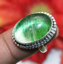 """Dichroic Glass Gemstone Ring 925 Sterling Silver Overlay Us Size 6"""" U252-A9"""
