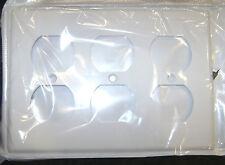 3-Gang Power Outlet Wallplate -- White -- NEW -- triple plug -- Leviton