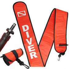 Scuba Diving 6ft Surface Marker Signal Tube Oral & Standard BC Hose Inflator