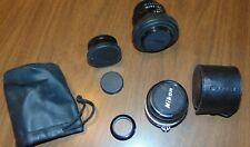 Lot of Nikon Lenses Nikon Series E 100mm, Hoya HMC 52mm, Tele Converter fits Ai