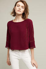 NWT Anthropologie Olanda Tasseled Pullover Sz L, Cropped Top by Saturday Sunday